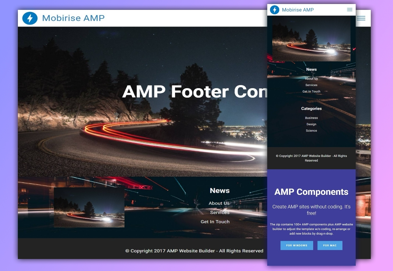 AMP Footer