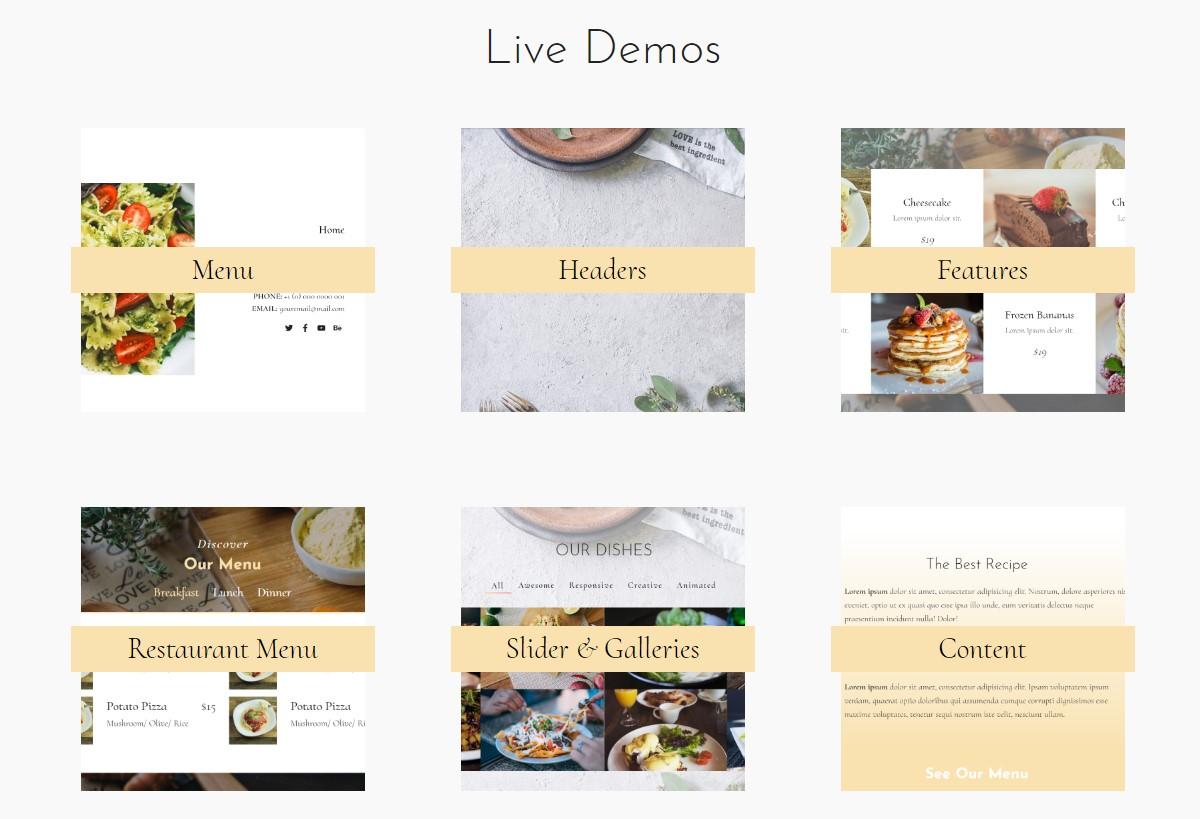 Restaurant Website Theme