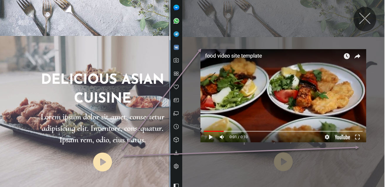 Restaurant Video Window