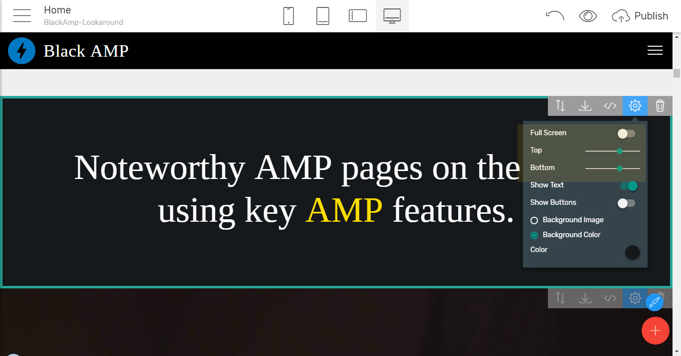 amp website templates