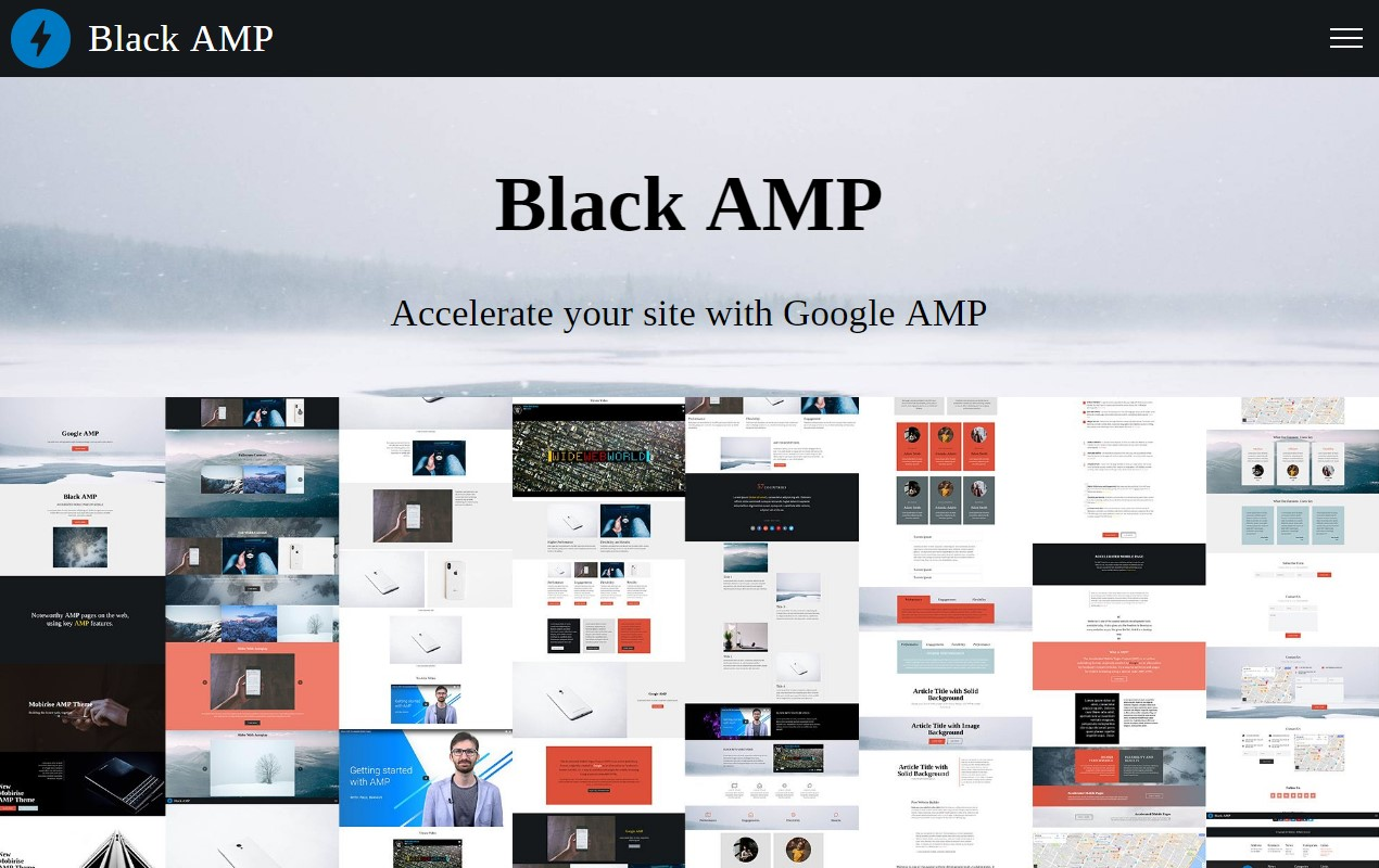 AMP HTML Template