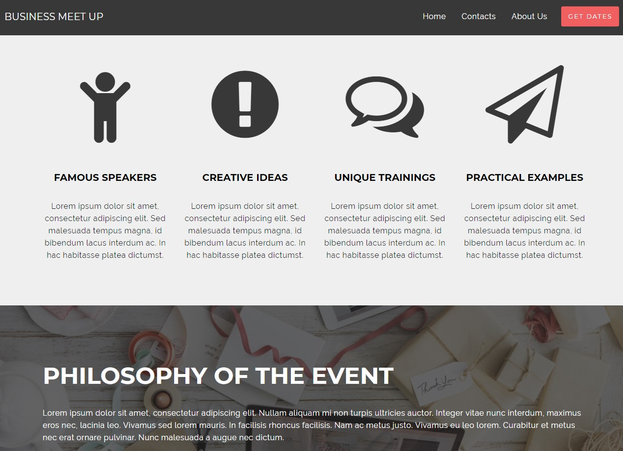 Event AMP Template Example