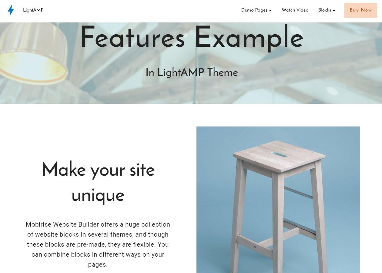 LightAMP Features Template