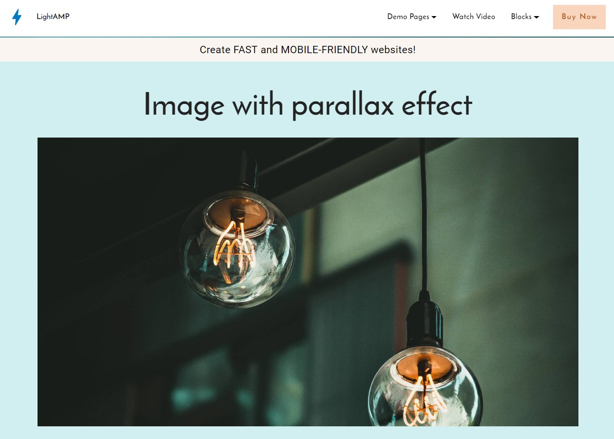 LightAMP Image and Video Template