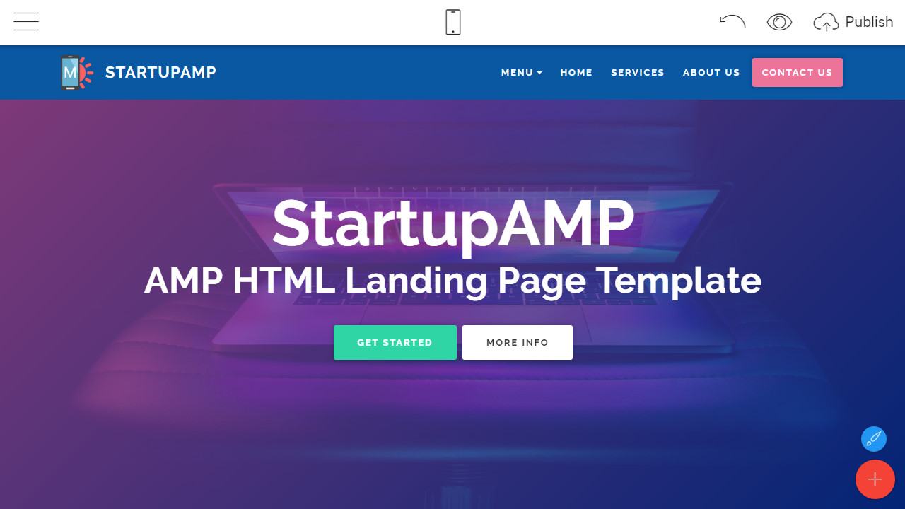 AMP HTML Landing Page Template