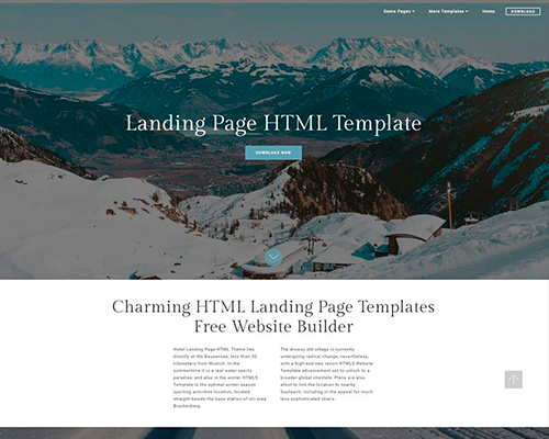 Landing Page HTML Template