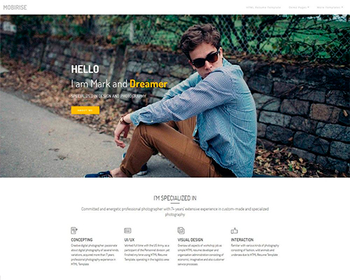 HTML Resume Template