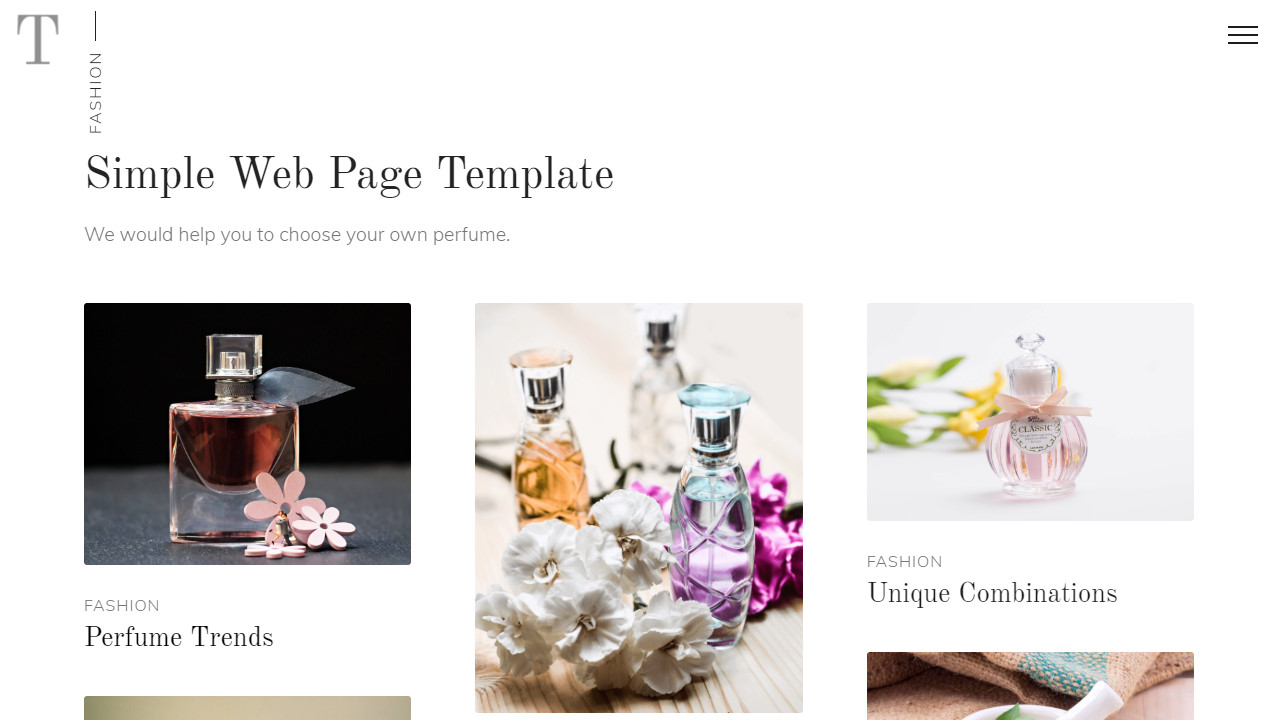 Chocolate Web Page Landing Template