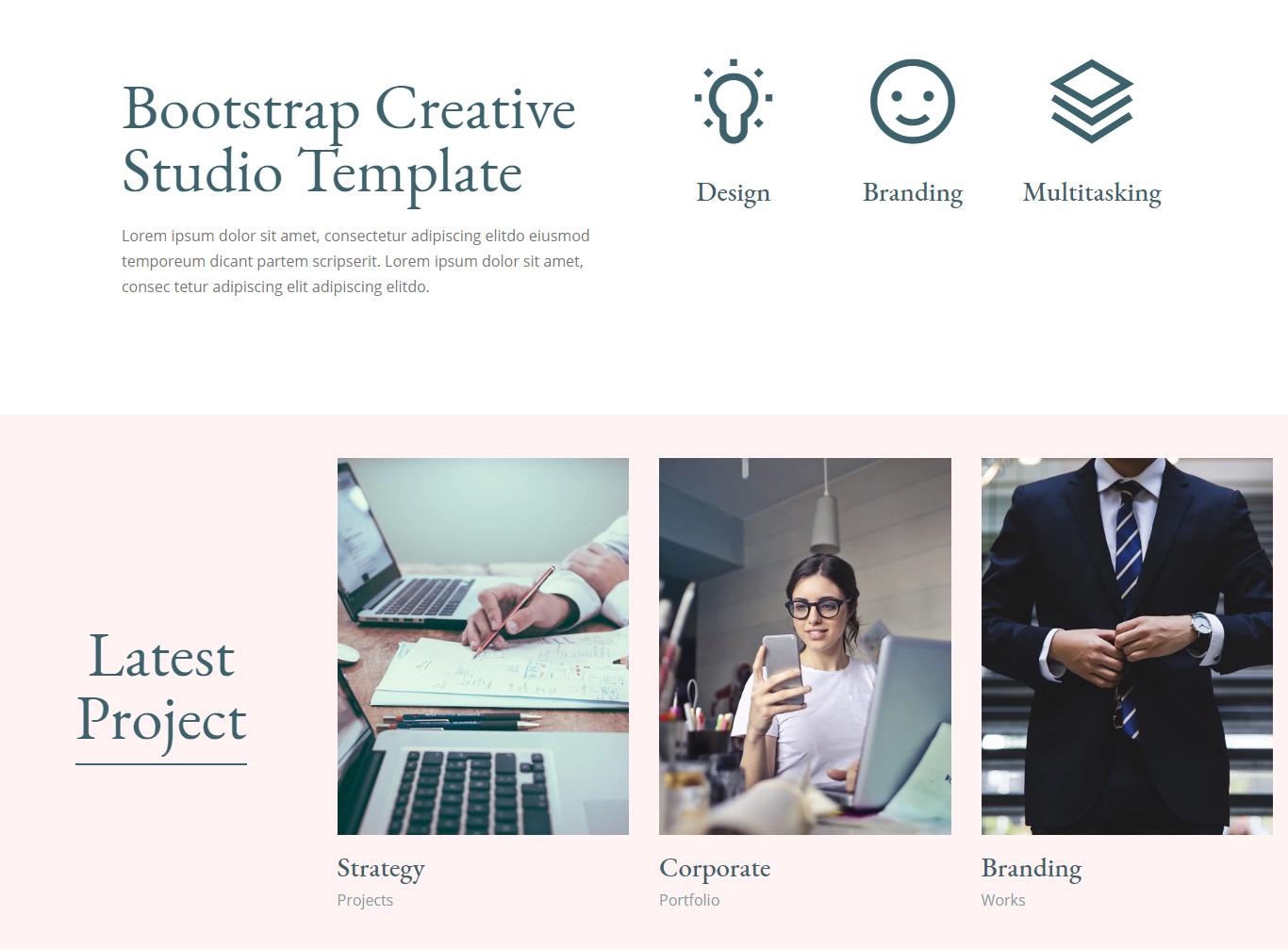 HTML5 Bootstrap Creative Studio Template