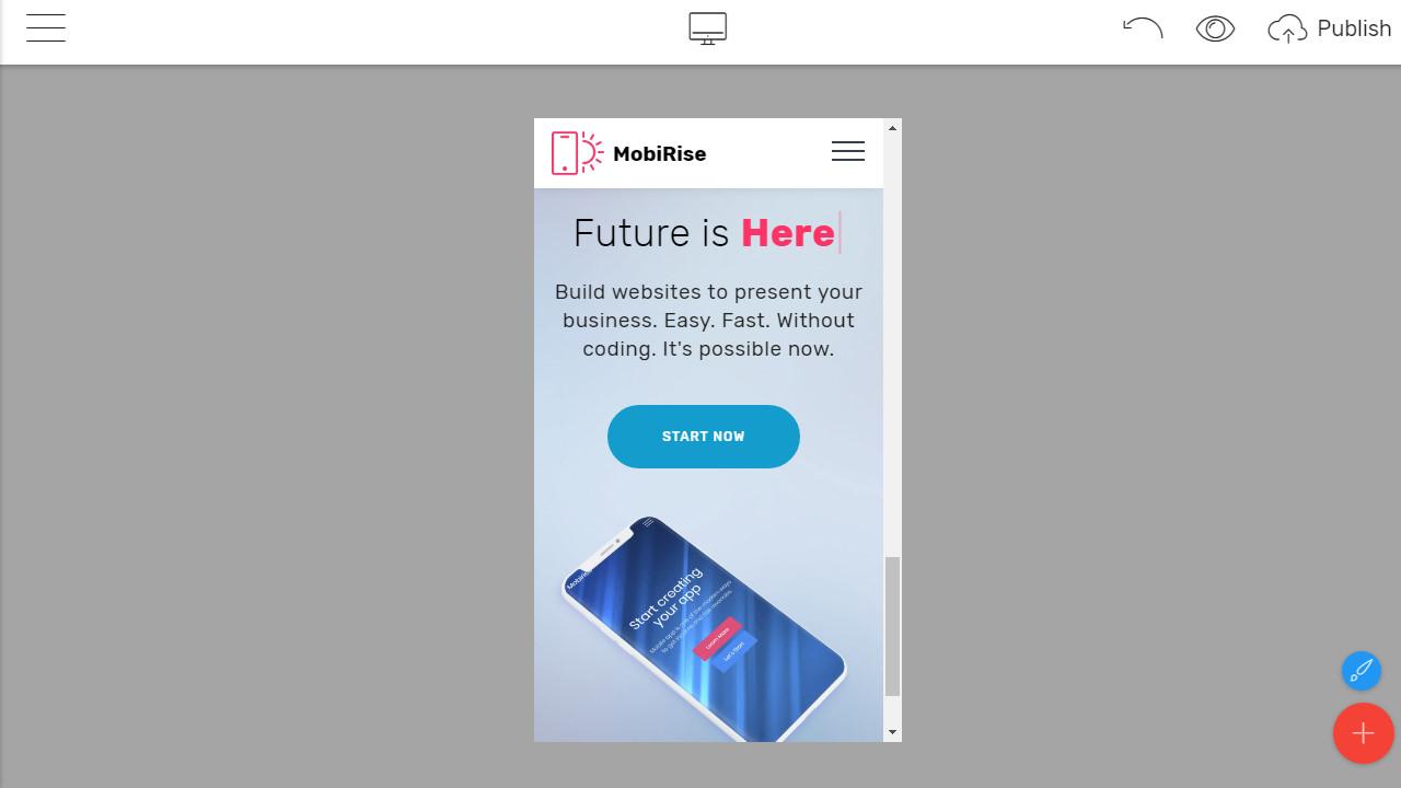 mobirise web page builder