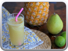 Juice (pineapple, pear and lime)