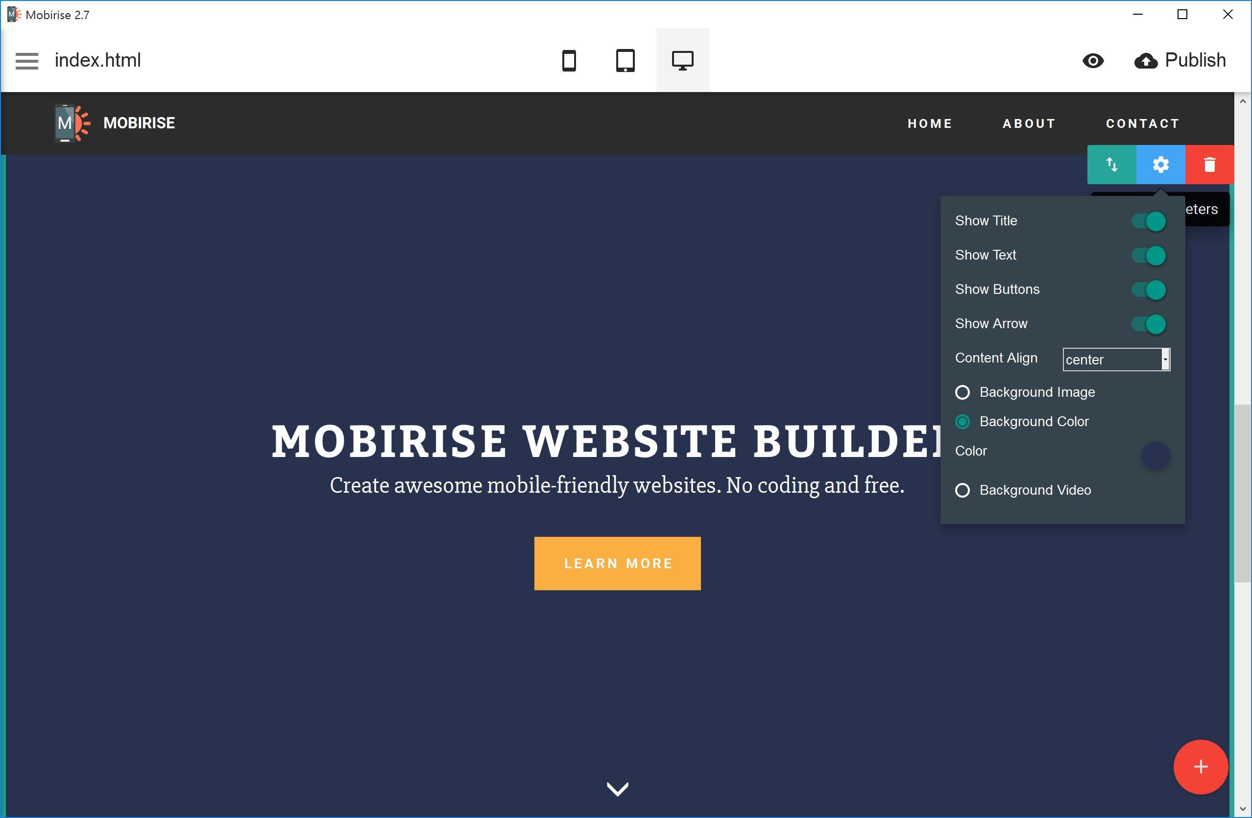 44f7863c029 Mobirise est un créateur de site Internet hors ligne pour Windows et Mac