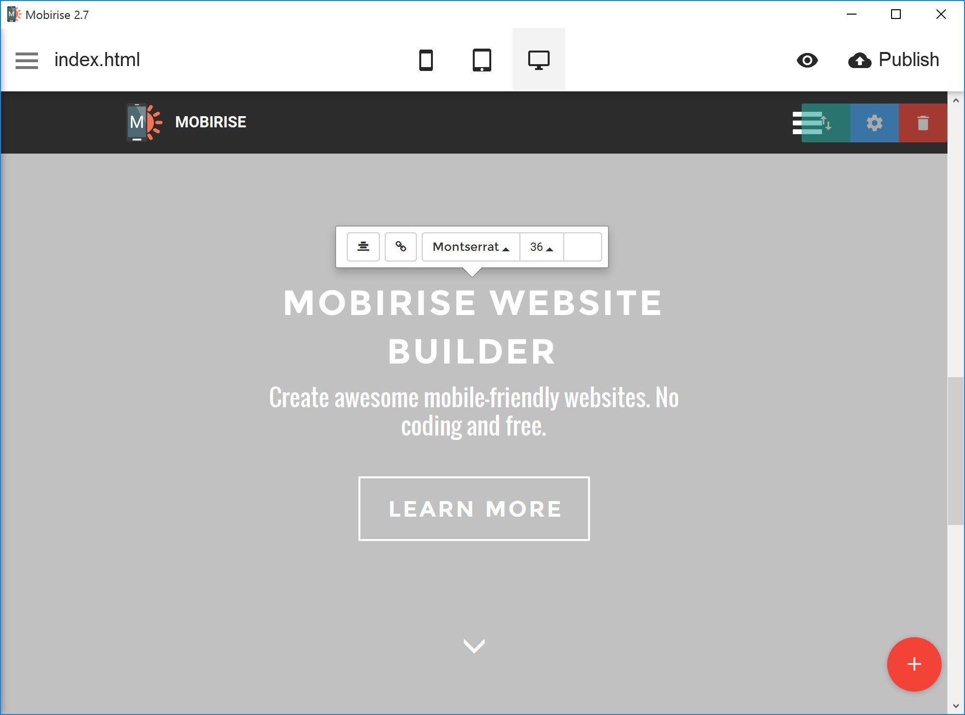 Free html website maker